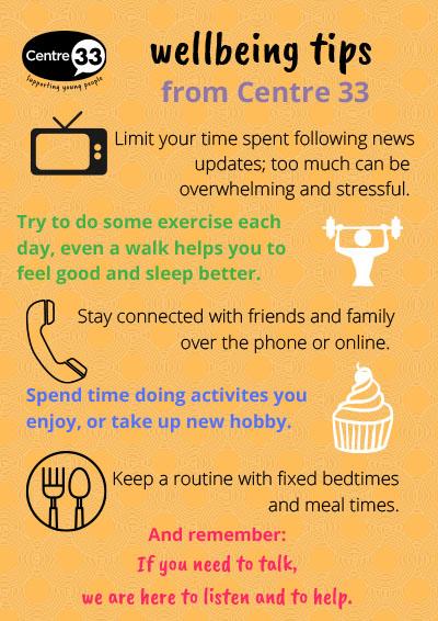 Lockdown wellbeing tips